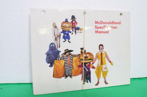 New/Sealed Rare Original McDonaldland Specification Manual 1973 Characters,Sizes