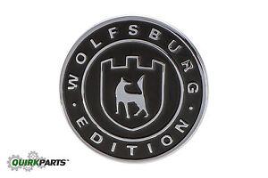 OEM NEW VW Volkswagen WOLFSBURG EDITION Badge Emblem Passat Golf Tiguan Jetta