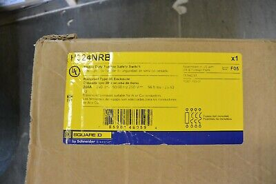 H324nrb Square D 200 Amp 240 Volt Fusible 3r Outdoor Disconnect Switch New