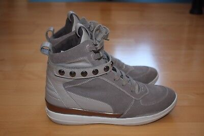 Geox High Top Sneaker Damen Gr. 7 grey - neuwertig!