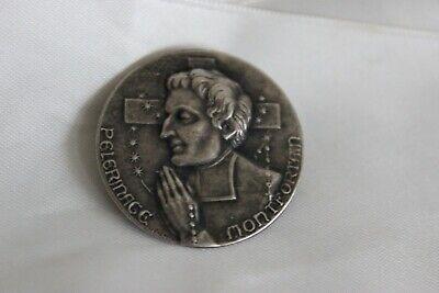 Medal Pin Religious Pilgrimage Montfortian Heavy Religious Brooch