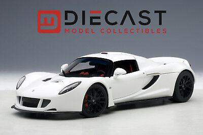 Autoart 75404 Hennessey Venom Gt Spyder  White 1 18Th Scale
