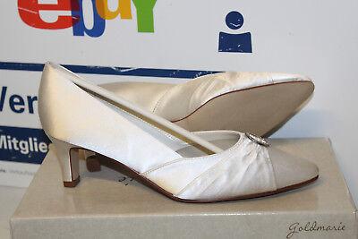 Gold Satin Schuhe (GOLDMARIE GRACE BRAUTSCHUHE HOCHZEITSSCHUHE ABENDSCHUHE SATIN Gr 39 Neu)