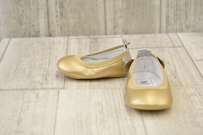 **Rosie Pope Angel Ballet Flats - Infant Girl's Size 3-6 Months, Gold