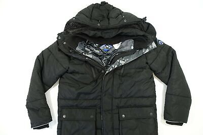 SUPERDRY M50004GR MOUNTAIN EXPEDITION PARKA BLACK 2XL SHERPA PUFFER JACKET NWT