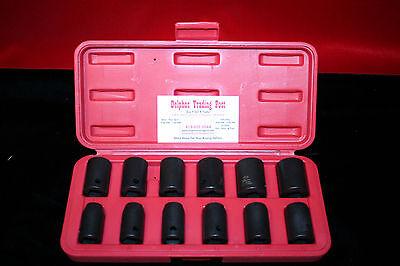 K Tools International 12pc Metric 12 Drive 6pt. Impact Sockets W Case