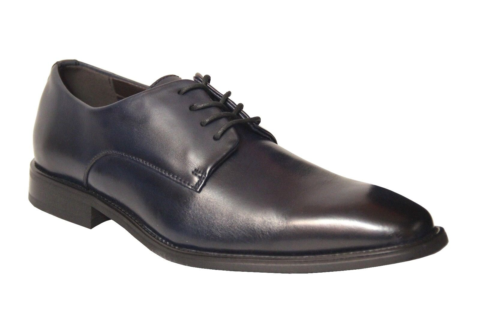 La Milano Men's Oxford Navy Blue Leather Dress Shoes A11326