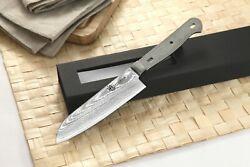 KATSURA Japanese Damascus Santoku Knife Blank VG-10 Steel 67 Layers 5-inch