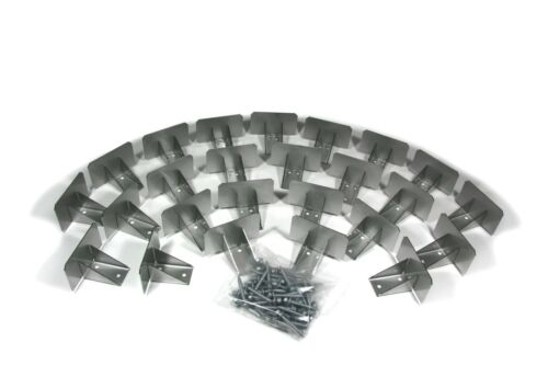 SnowCatchers Stainless Steel Snow Guards 25 pcs w/Screws for Metal Steel Roof