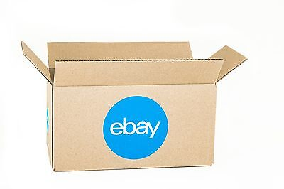 """eBay-Branded Boxes With Blue 2-Color Logo 12"""" x 6"""" x 6"""""""