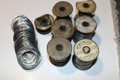 6lb 2oz Of Vintage Solder - Nokorode Old Reliable And 2 Unknown Brands