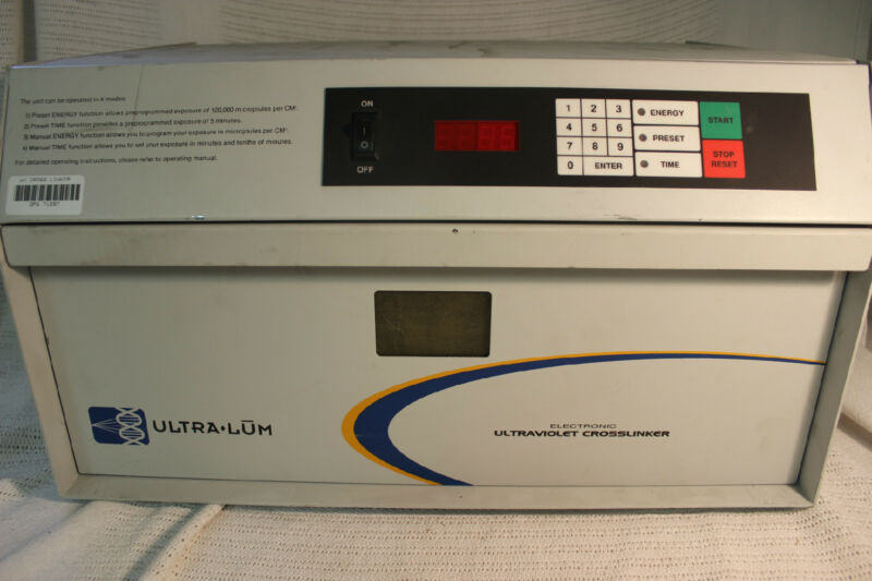 UltraLum CEX-1500 UV CrossLinker Ultraviolet  254nm