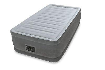 Intex Twin Raised Airbed Comfort Plush Dura Beam Air Bed Mattress w Pump 64411E