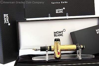 MONTBLANC BOHEME SOLITAIRE GOLD PLATED FOUNTAIN RARE (B) Nib 5800 NEW In BOXES!