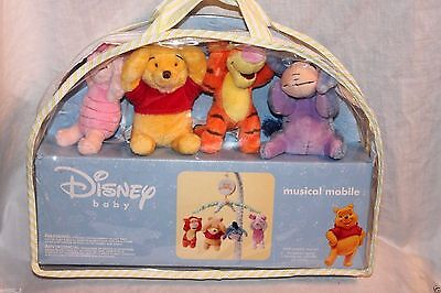NEW  WINNIE THE POOH BABY CRIB MUSICAL MOBILE DISNEY IN PACKAGE