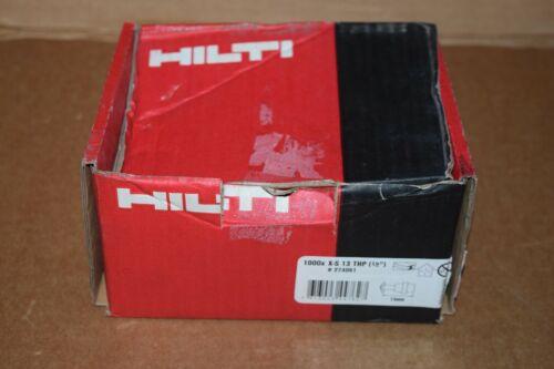 """HILTI X-S 13 THP 1/2"""" STD FASTENER SINGLE STEEL DRYWALL NAIL 1000 COUNT, #274061"""