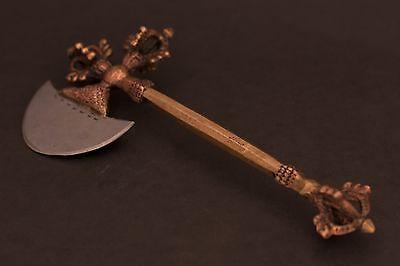 Antique Tibetan Khatvanga Phurba Ritual item tool Wand Scepter Chitipati khatang
