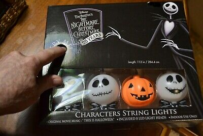 DISNEY TIM BURTON'S THE NIGHT BEFORE CHRISTMAS 8 CHARACTER STRING LIGHTS W/MUSIC](Light The Night Halloween)