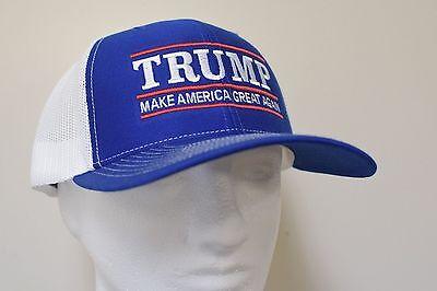 Make America Great Again  Donald Trump Hat Republican 2020  Royal White Mesh Cap
