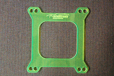 1/4'' Carb Spacer, Holley Carburetor Transparent Acrylic Spacer, Made in USA!