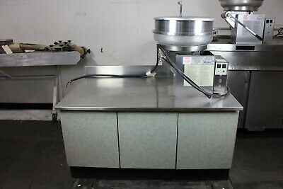 Gold Medal 2181er Pralinator Frosted Nut Machine Mixer Right Dump W Table