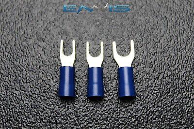 75 Pk 14-16 Gauge Vinyl Spade Connectors 25 Pcs Each 6 8 10 Terminal Fork