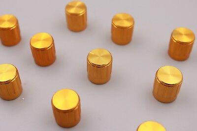 10pcs New 15x17mm Golden Knob Cap Mini Aluminum Alloy Potentiometer Knobs