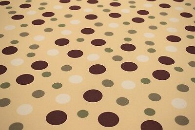 Canvas Duck Polka Dot Multi Color Print Fabric Upholstery Drapery 100% Cotton  ()