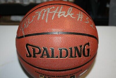 KEVIN MCHALE #32 SIGNED SPALDING NBA BASKETBALL BOSTON CELTICS HOF  (Kevin Mchale Autographed Basketball)