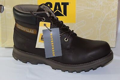 Caterpillar Cat Waterproof Mens Work Bootssize 9 12 Dark Brown P719246