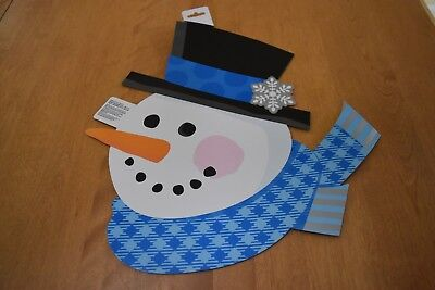 New Snowman Cutout Holiday Christmas Party Window Wall Door Decorations 15 in