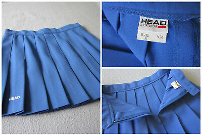 HEAD TENNIS SKIRT Blue Pleated Size 8