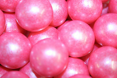 GUMBALLS SHIMMER BRIGHT PINK 25mm or 1 inch (57 count), 1LB (Pink Gum Balls)