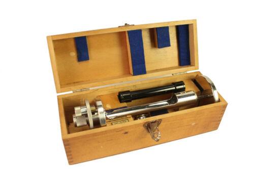 Vtg Carl Reiner Zeiss Jena Nr. 7379 Gizmo Refractometer Lens w/ Wood Box Case