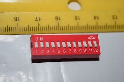 Apem Ds-12 24-pin Thru-hole 12-position Dip Switch New Quantity-10