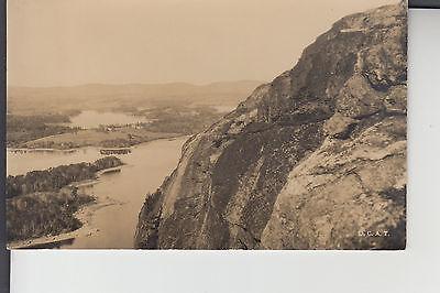 Townsend Real Photo Postcard Lake Megunticook & Maiden Cliffs Lincolnville ME