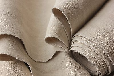 Homespun linen antique fabric material 5.5 YDS WASHED material