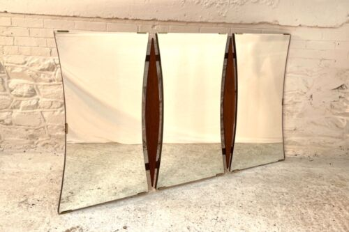 Mid Century Modern Triple Walnut Mirror by Albert Parvin DANISH TEAK ROSEWOOD