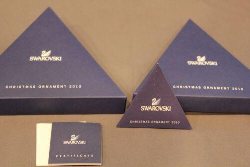 Swarovski 2010 Annual Edition Ornament Empty Presentation Box Only 1041301