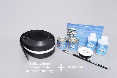 Set: Schlauchboot Scheuerleiste (60mm) + Kleber Kit, Un… |