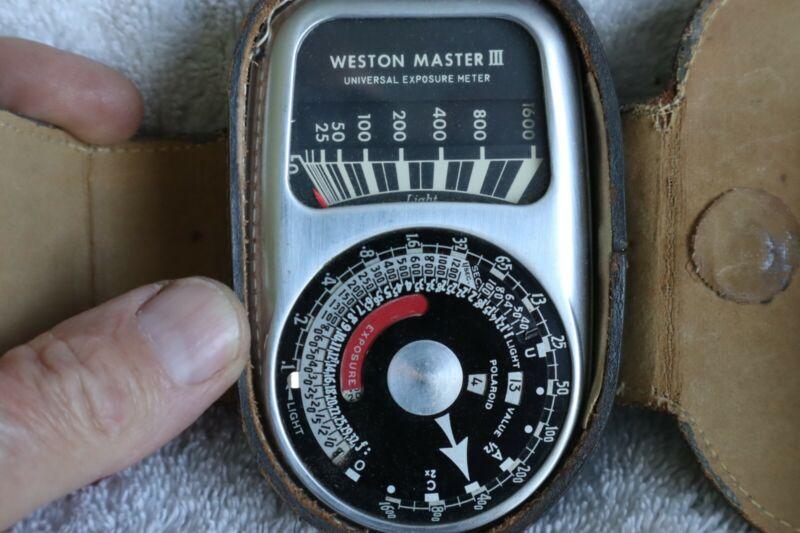Weston Master III Exposure Meter, Works