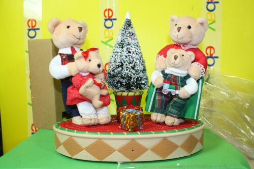CHRISTMAS BEAR FAMILY Musical Talking Moving Lighted Tree ~ RETIRED ~ Avon