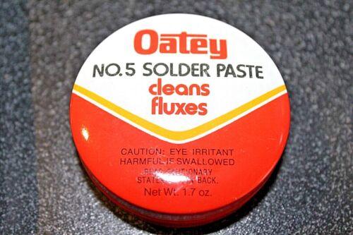 NEW No. 5 Oatey  Solder Paste 1.7oz. No. 30012
