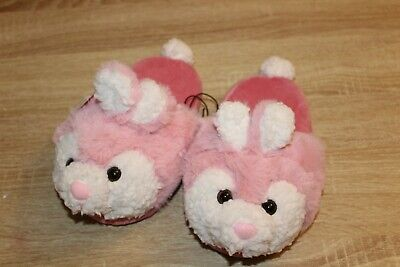 Girls Bunny Slippers (NEW Wonder Nation Girls Bunny Slippers Fuax Fur Scuffs in)