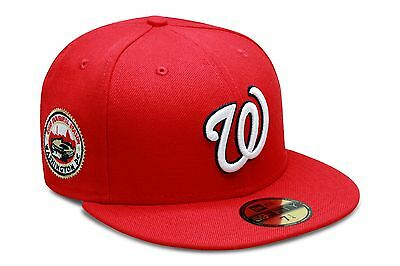 White Washington Hat - New Era Washington Nationals Fitted Hat All Red/White/2008 Inaugural Season