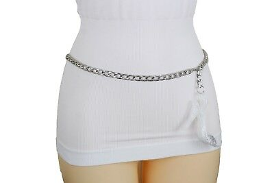 Women Hip High Waist Belt Silver Metal Chain Holiday Pump Shoe Charm Size XS S M for sale  Shipping to India