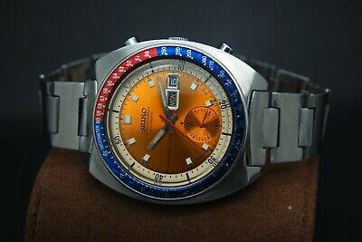 Vintage Seiko Pepsi Pogue 6139-6002 17J Automatic Chronograph Day/Date Watch