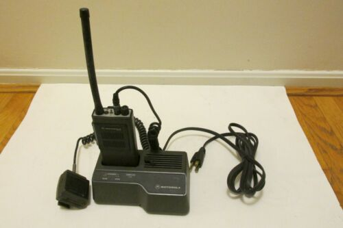 Motorola EXPO 2 Ch VHF  Portable Radio- Includes Charger, battery and Mic