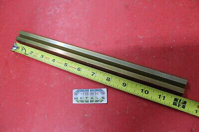 2 Pieces 716 C360 Brass Hex Bar 12 Long New Lathe Bar Stock .437 12 Hard