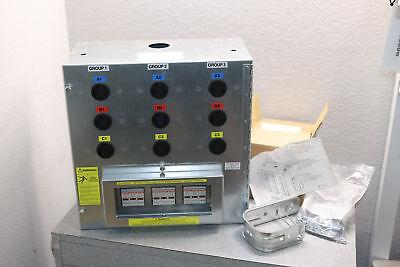 9-outlet L6-30r 3 Phase Power Distribution Box Enclosure 416v 240v 60hz 24a 72a